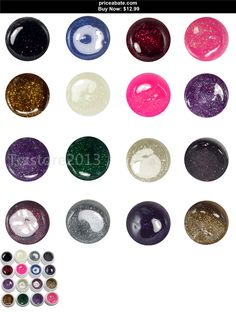 nails: Hot 16 Mixed Color Glitter Shimmer UV Gel Builder French Tips Nail Art Tools Set - BUY IT NOW ONLY $12.99