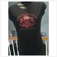Harley Davidson Top Black top from Slidell, La. Photos show front and back. Harley Davidson Tops Tees - Short Sleeve