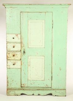 Antique Painted Schrank Cupboard from north2southantiques on Ruby Lane