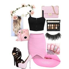 Ladies in PINK. ♡ by georgiaa27 on Polyvore featuring polyvore fashion style Element Red Circle AX Paris Design Inverso Accessorize Lime Crime Maybelline Illamasqua