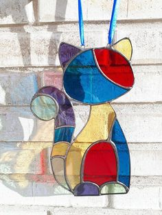 Cat ~ Stained Glass ~ Color ~ Tiffany ~ Kat ~ ArrowGlass