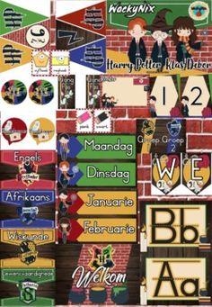 WackyNix Harry Potter Klas Dekor by WackyNix   Teachers Pay Teachers Afrikaans, Teacher Pay Teachers, Harry Potter, Baseball Cards