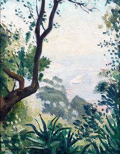 Albert Marquet (French, 1875-1947), Vue des environs d'Alger [View near Algiers]. Oil on panel, 27 x 22 cm.