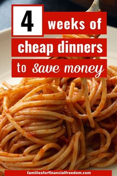 Find easy and cheap meals to make! Get great ideas for quick cheap meals on a budget for families! Get cheap meals under $5! Check out these ideas for recipes for cheap meals for dinner! Get 30+ cheap dinner recipes! Cheap recipes you'll love to help you with meal planning! Great meal planning ideas. #dinner #easydinner #familydinner #cheapdinners #cheapmeals #meals #savemoney #money #family #save #frugal #budget #30minutemeals #mealprep #easymeals Cheap Meals For 5, Inexpensive Meals, Cheap Recipes, Cheap Dinners, Cheap Food, Easy Family Meals, Frugal Meals, Budget Meals, East Meals