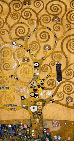 Shop for klimt art from the world's greatest living artists. All klimt artwork ships within 48 hours and includes a money-back guarantee. Choose your favorite klimt designs and purchase them as wall art, home decor, phone cases, tote bags, and more! Art Nouveau, Art Klimt, Art Amour, Tree Art, Tree Of Life Artwork, Tree Of Life Painting, Painting Art, Painting Trees, Art Plastique