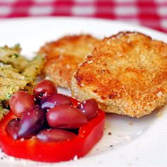 Baked Parmesan Panko Pork Chops - Rock Recipes -6 center loin pork chops  ½ cup flour  1 egg + 1 tbsp water whisked together (eggwash)  1 cup Panko crumbs  1/3 cup freshly grated Parmesan cheese  Salt and pepper to season