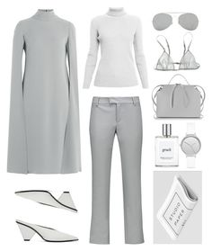 Styling the Cape The Minimal Way by fashionlandscape on Polyvore featuring Mode, Valentino, Rumour London, M Missoni, Loup Charmant, Jil Sander, Skagen, Acne Studios and philosophy