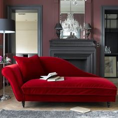 Wow. Love the red on that chaise lounge!