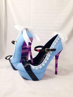 FALL SALE Alice Custom Rhinestone Heels/ by AWhimsicalHoot