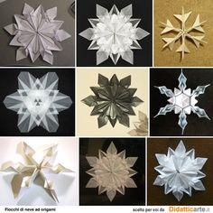 Origami fiocchi di neve (snowflakes)
