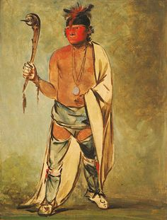 Naugh-háigh-hee-kaw, He Who Moistens the Wood by George Catlin kp