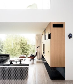 <3 this room. eames, large windows, great view, clean lines.