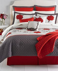 Willow 22 Piece Comforter Sets This would be perfect for my new bed. Gotta love the red.
