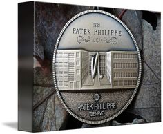 """Patek Philippe Geneve Commemorative Medal Coin $62 // Style: Soft Edge Canvas Print; Size: Petite 7"""" x 10"""" // Visit http://www.imagekind.com/Patek-Philippe-Geneve-PPG_art?IMID=8a85802b-eeec-4645-9012-f6a2af3151ab for product details."""