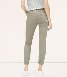 New Ann Taylor Loft Womens Sage Green Modern Skinny Crop Denim Jeans Size 4 #AnnTaylorLOFT #CapriCropped