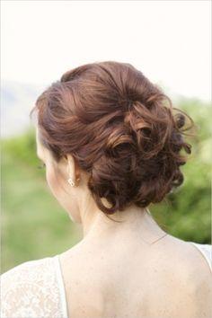 Lovely wedding day updo #hair #updo #curls  Photo by: Kristen Joy Photography on Wedding Chicks