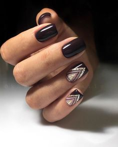 Nail art is a very popular trend these days and every woman you meet seems to have beautiful nails. It used to be that women would just go get a manicure or pedicure to get their nails trimmed and shaped with just a few coats of plain nail polish. Elegant Nails, Classy Nails, Stylish Nails, Elegant Chic, Square Nail Designs, Nail Art Designs, Nails Design, Design Art, Tribal Designs