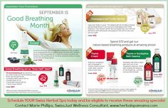 It's September.....and that means SwissJust announces our customer specials for the month! EUCASOL is on Special...Something my family and I canNOT live without! All of you that LOVE the Champagne and Truffle set, this is an AMAZING deal, stock up for Christmas gifts!!  Schedule YOUR Swiss Herbal Spa!!! www.herbalspamama.com