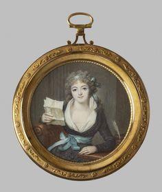 François Dumont (French, 1751-1831) Mademoiselle de Montbrizon, Baltimore,  Walters Art Museum