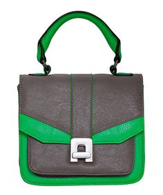 Take a look at this Green & Charcoal Sariah Satchel by Melie Bianco on #zulily today! $39.99, regular 92.00