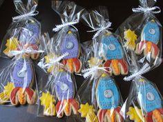 Rocket Ship Cookies by sugartscookies on Etsy