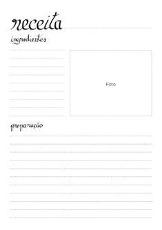 Cartão de Receitas - Imprimir