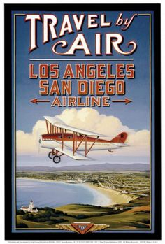 Travel by air. Los Angeles San Diego Airline.