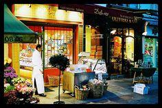 Shops on Rue Cler in Paris