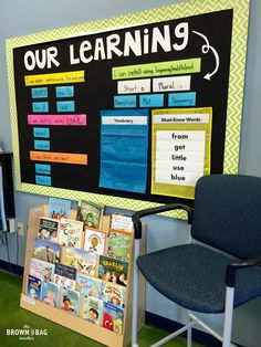 The Brown-Bag Teacher: Grade Classroom Reveal: 2015 - 2016 --- objective wall with focus skills and vocabulary Classroom Objectives, Classroom Layout, Classroom Organisation, Classroom Bulletin Boards, Learning Objectives, First Grade Classroom, New Classroom, Classroom Setting, Classroom Design