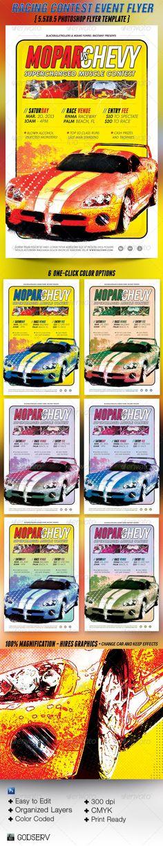 Car Racing Contest Flyer Template