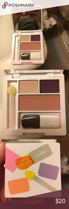 Clinique Eyeshadow and Blush Set Brand new eyeshadow palette. Looks especially great with brown eyes! Comes with 2 applicators! Clinique Makeup Eyeshadow