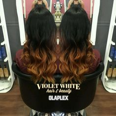 dark brown brunette black to copper warm caramel toffee balayage ombre hair olaplex multitonal long tousled shiny