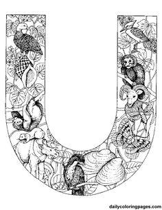 u-animal-alphabet Auf dailycoloringpages.com http://www.pinterest.com/source/dailycoloringpages.com/