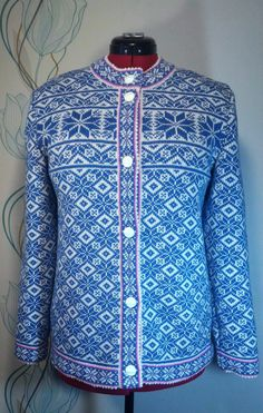Cardigan for adult with ornament pattern by LanaNere on Etsy