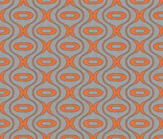 bed? raindrop linen new orange fabric by holli_zollinger on Spoonflower - custom fabric
