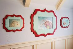 buy wood plaques at craft store, paint and modge podge the picture to it