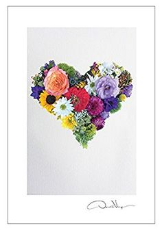 Flower Heart Postcard Prints. 10 Pack, 4x6. From The Flower Heart Series. Best Quality Birthday Cards, Thank You Notes & Invitations. Unique Birthday, Christmas, Mother's Day & Valentines Day Gifts.