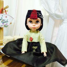 조바위 쓴 라푼젤^^  한복입는 베이비돌~ 디즈니도 한복 이쁜거 알아야할텐데^^ Disney princess doll