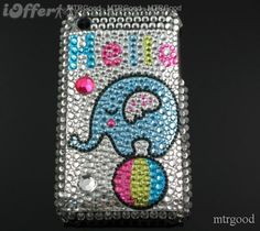 elephant ipod4 cases | Cute -elephant-bling-cover- case