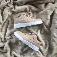 """#hypefeet: @nike Air Force 1 ""Tan"" Photo: @kevstarrosso"""