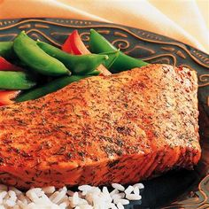 Old Bay Baked Crusted Salmon: Easy way to prepare salmon with extra flavor but not extra calories!