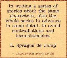 Quotable - L. Sprague de Camp - Writers Write Creative Blog