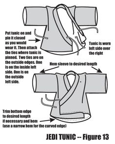 Using an A-line in a Jedi Tunic - Figure 13 Eeeeeep great tutorial!