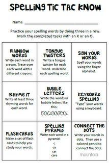 Choose a spelling word activity. | 3rd Grade Language Arts ...