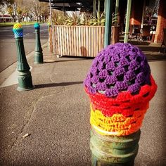 International Yarn Bombing Day - June 8 - Melbourne, Australia which is apparently the yarn bombing capital of the known universe !!