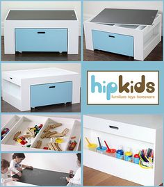 School Supply Quad Activity Table With Storage Kiddos Pinterest Playrooms And Attic Playroom
