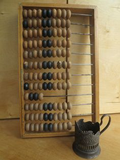 Rustic home decor. Big soviet light wood abacus. USSR vintage calculator. Rustic abacus. Home decor. Russia collectible. Soviet vintage.