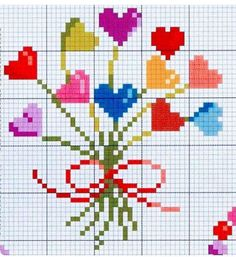 Cross Stitch Alphabet Patterns, Wedding Cross Stitch Patterns, Cross Stitch Bookmarks, Cross Stitch Heart, Modern Cross Stitch Patterns, Cross Stitch Flowers, Cross Stitch Designs, Cross Stitching, Cross Stitch Embroidery
