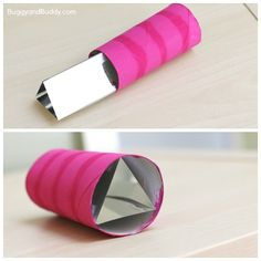 place the taped mylar sheets into your cardboard tube
