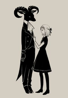 art by tono.amazingly kawaii for a demon drawing and his little helper ^^P adorable I think. Art And Illustration, Botanical Illustration, Character Inspiration, Character Art, Trailer Park, The Ancient Magus Bride, Arte Obscura, Arte Horror, Dark Art